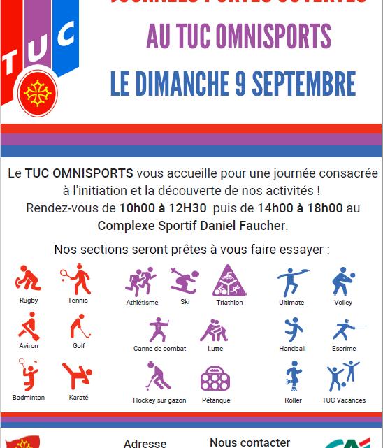 Journée portes ouvertes tuc omnisports Dimanche 9 Septembre