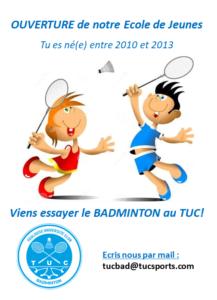 Calendrier Universitaire Paul Sabatier 2019 2020.Tuc Badminton Serve It Smash It Win It Love It